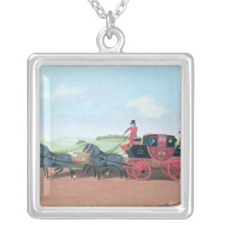 The Liverpool and London Royal Mail Coach, 1812 Silver Plated Necklace