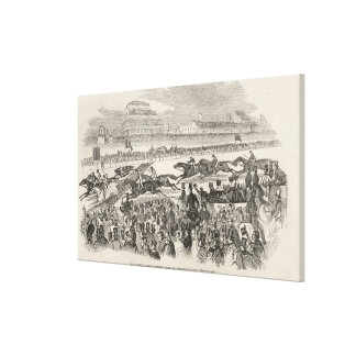 The Liverpool Grand Steeple Chase on Wednesday Canvas Print
