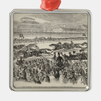 The Liverpool Grand Steeple Chase on Wednesday Metal Ornament