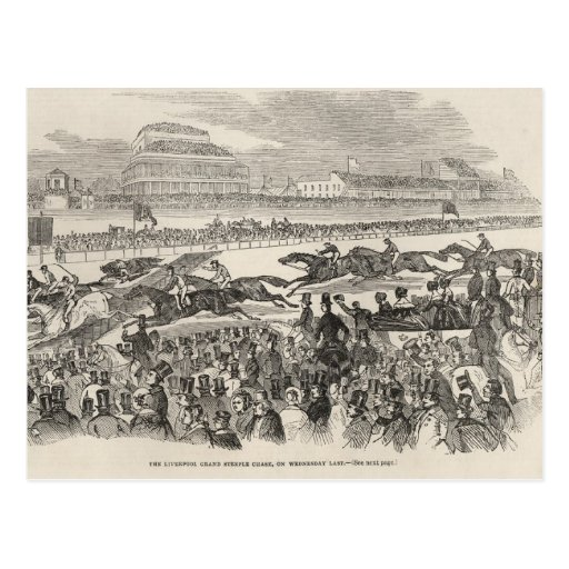 The Liverpool Grand Steeple Chase on Wednesday Postcard