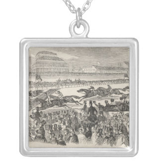 The Liverpool Grand Steeple Chase on Wednesday Silver Plated Necklace