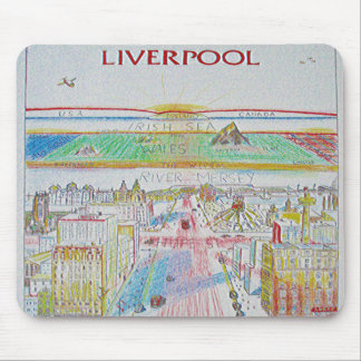 The Liverpool of Life Mousepad by Colin Carr-Nall