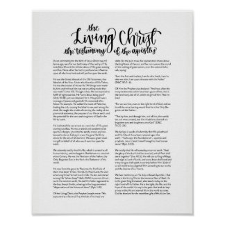 The Living Christ Poster