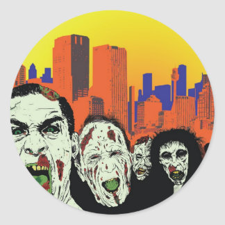 The living dead zombies classic round sticker