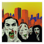 The living dead zombies print
