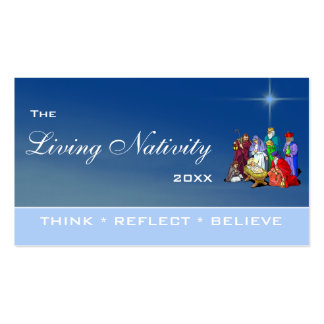 The Living Nativity Business Card Templates