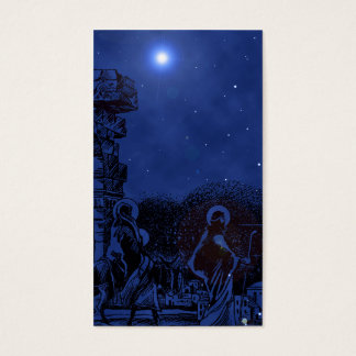 The Living Nativity Gift Tag Business Card