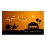 The Living Nativity gift tag Double-Sided Standard Business Cards (Pack Of 100)