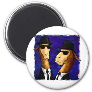 The LLama Brothers 2 Inch Round Magnet