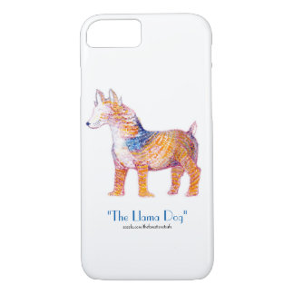 The Llama Dog 2.0 - Hybrid Creature in Watercolor iPhone 8/7 Case