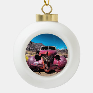 The Lobster Car a Vintage 1939 Chevy Ceramic Ball Christmas Ornament