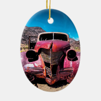 The Lobster Car a Vintage 1939 Chevy Ceramic Ornament
