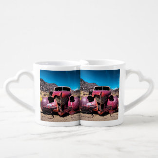 The Lobster Car a Vintage 1939 Chevy Coffee Mug Set
