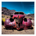 The Lobster Car a Vintage 1939 Chevy Poster