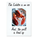 "THE LOBSTER IS ON ICE INVITATION 5"" X 7"" INVITATION CARD"