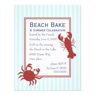 the Lobster & the Crab Personalized Announcements