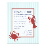 the Lobster & the Crab 4.25x5.5 Paper Invitation Card