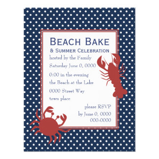 the Lobster the Crab Custom Invitation