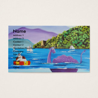 The Loch Ness monster by Gordon Bruce Business Card