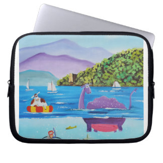 The Loch Ness monster by Gordon Bruce Laptop Sleeve