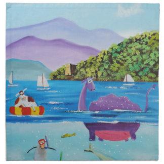 The Loch Ness monster by Gordon Bruce Napkin