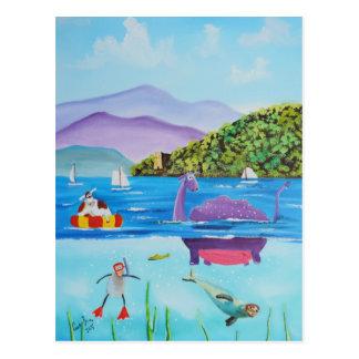 The Loch Ness monster by Gordon Bruce Postcard