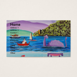 The Loch Ness monster painting Gordon Bruce Business Card