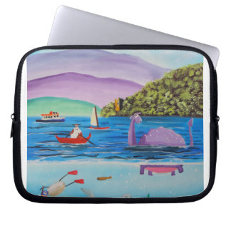 The Loch Ness monster painting Gordon Bruce Laptop Sleeve