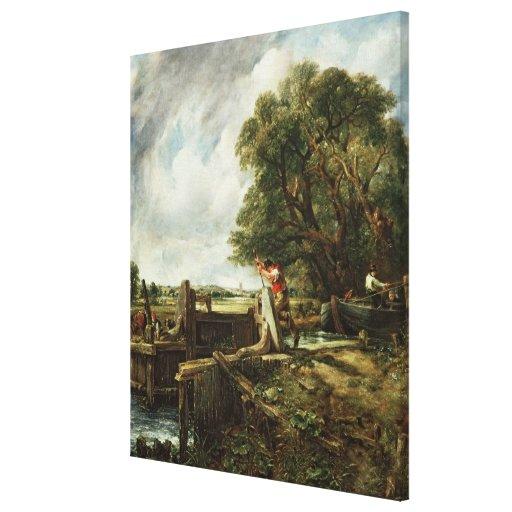 The Lock, 1824 Canvas Print