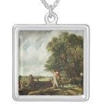 The Lock, 1824 Square Pendant Necklace