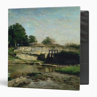The Lock at Optevoz, 1859 3 Ring Binder
