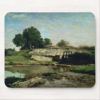 The Lock at Optevoz, 1859 Mouse Pad