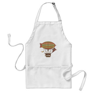 The Locke Hackney Airship Flying Machine Adult Apron