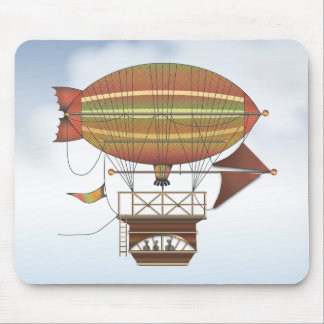 The Locke Hackney Airship Flying Machine Mouse Pad