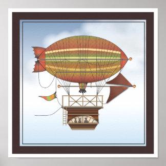 The Locke Hackney Airship Flying Machine Poster