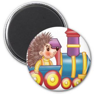 the locomotive and the hedgehog fridge magnet