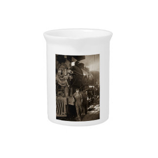 The Locomotive Ladies of World War I Beverage Pitcher