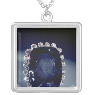 The Logan Brooch Square Pendant Necklace