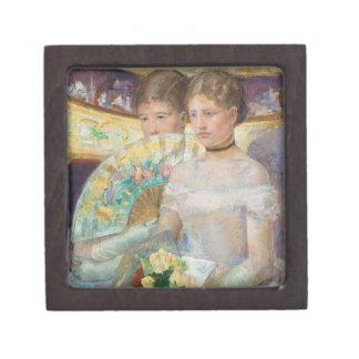 The Loge, 1882 (oil on canvas) Keepsake Box