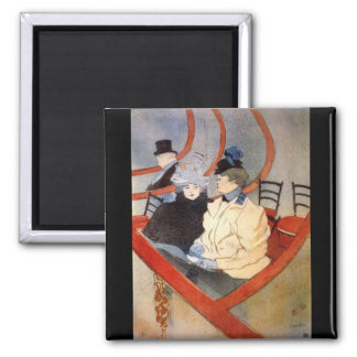The loge 2 by Toulouse-Lautrec Refrigerator Magnets