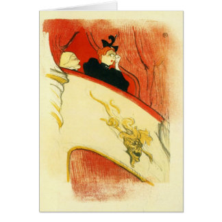 The loge with a gold mas by Toulouse-Lautrec Card