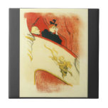 The loge with a gold mas by Toulouse-Lautrec Tile
