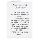 The Logic of Leap Year Greeting Cards