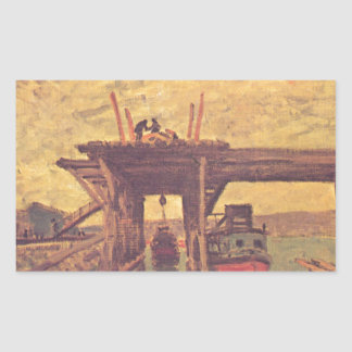 The Loing at Moret by Alfred Sisley Rectangular Sticker