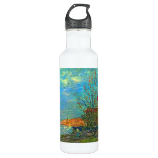 The Loing in Moret by Alfred Sisley 24oz Water Bottle