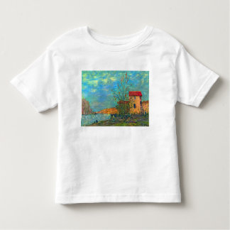 The Loing in Moret by Alfred Sisley Toddler T-shirt