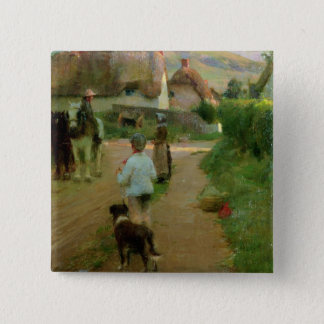 The Loiterers, 1888 (oil on canvas) Pinback Button