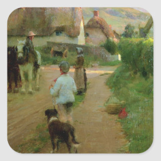 The Loiterers, 1888 (oil on canvas) Square Sticker
