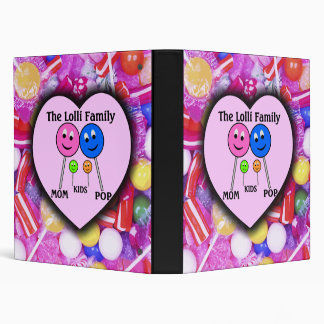 The Lolli Family 3 Ring Binder