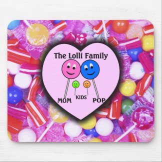 The Lolli Family Mouse Pad